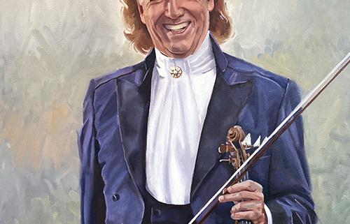 Portret schilderij André Rieu