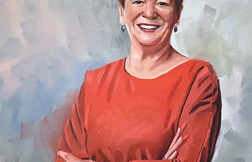 Portret schilderij Annemarie Penn te Strake