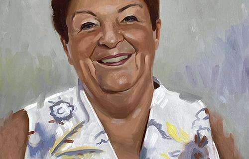Portret schilderij Beppie Kraft