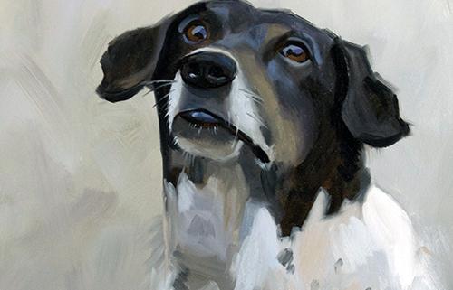 Portret schilderij Bijko
