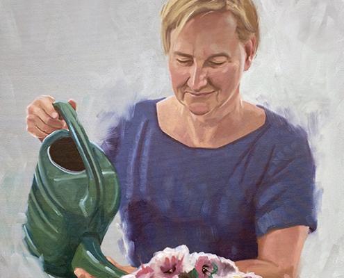 Portret schilderij Birgit Gijsbers