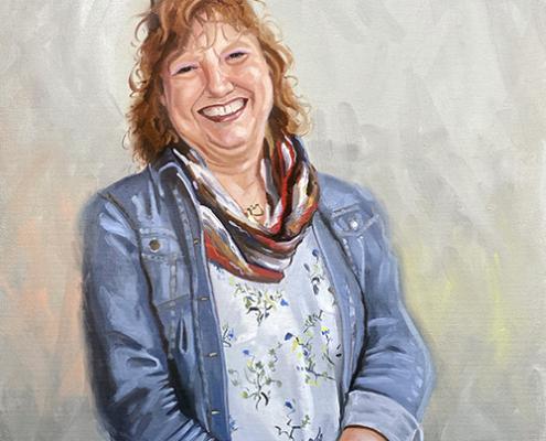 Portret schilderij Carin Geraeds
