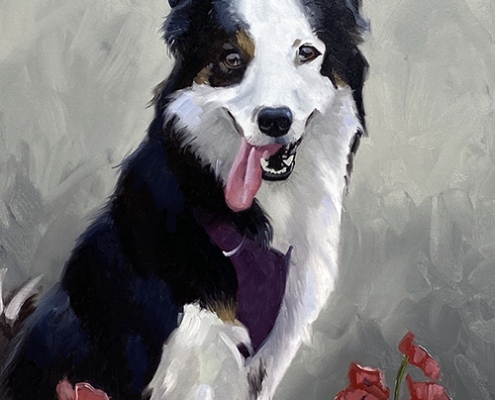 Portret schilderij Molly