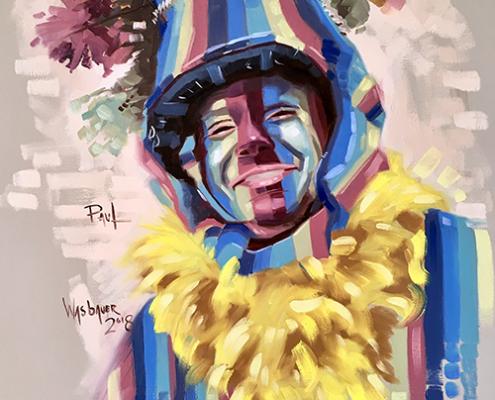 Portret schilderij Paul Bonfrère