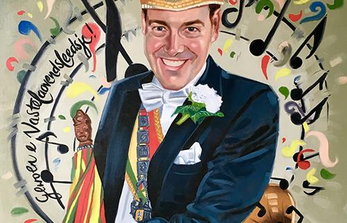 Portret schilderij Rolam Nievergeld