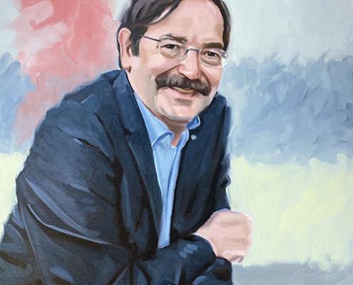 Portret schilderij Theo Bovens