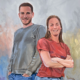 Portret schilderij Thom en Femke